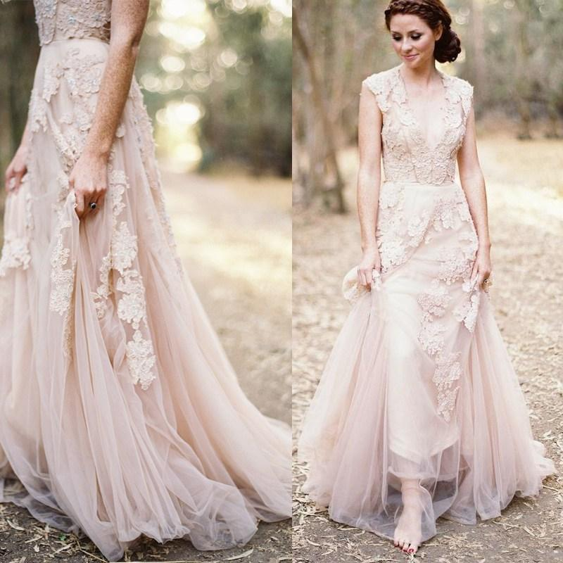 Dusty Pink Wedding Dresses Rose Dress