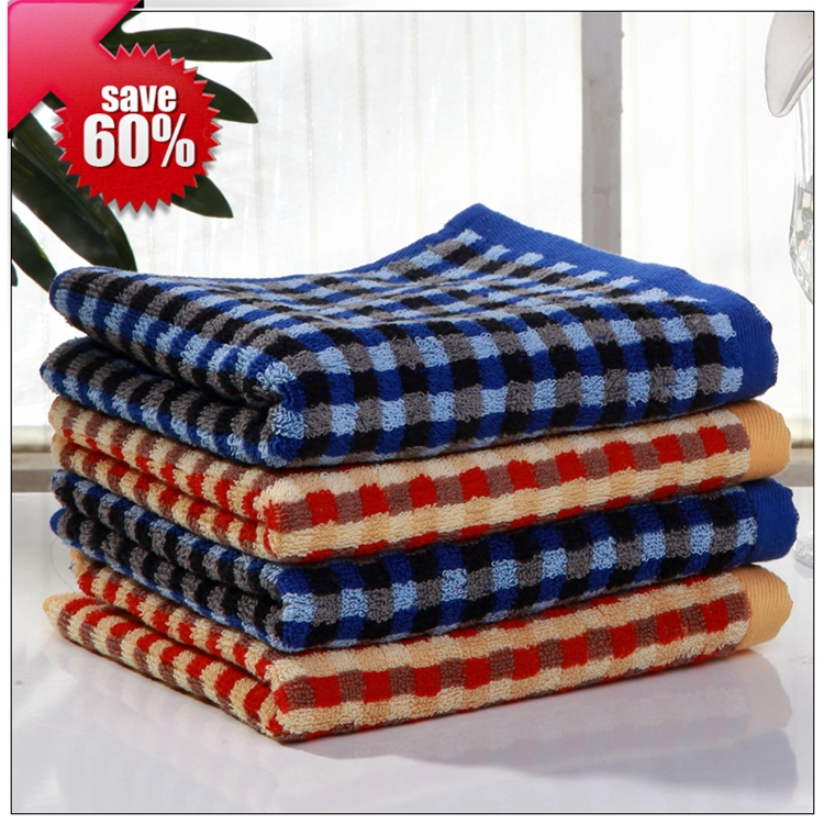 2015 New Fashion brand soft children hand towel set 34*75cm 4pcs cheap 100% cotton fiber towel face for adults blue red T4049(China (Mainland))