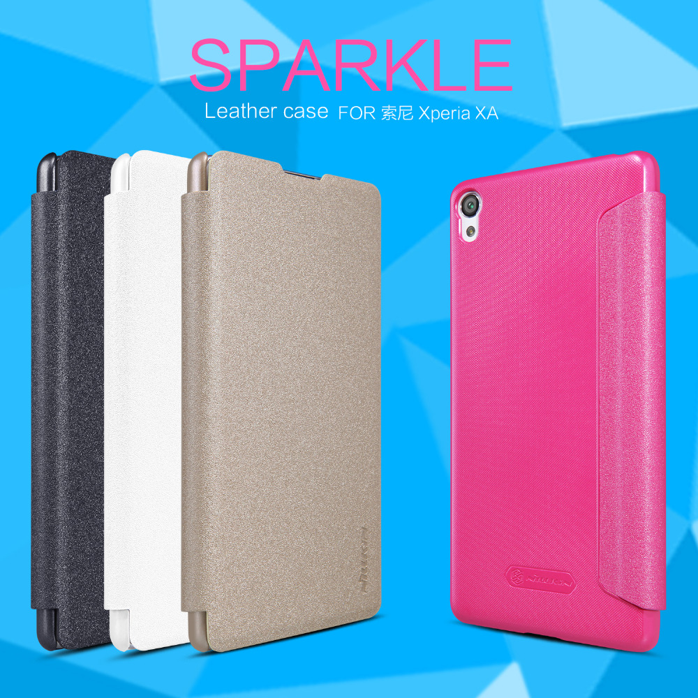For Sony Xperia XA phone cases Nillkin Sparkle leather case for Sony Xperia XA mobile phone protective cover back case(China (Mainland))