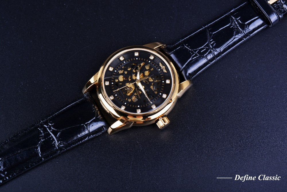 Royal Diamond Skeleton Mechanical Watch