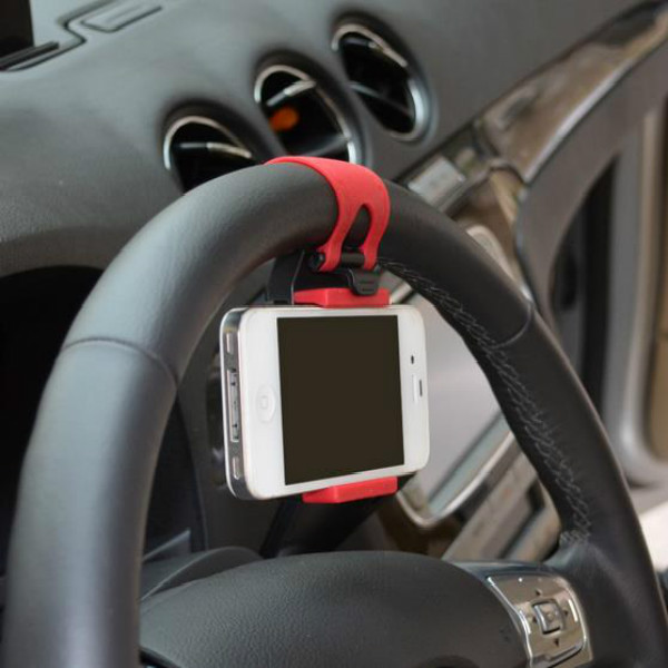 Free Shipping Universal Car Steering Wheel Bike Clip Mount Holder For iPhone iPod MP4 GPS Mobile Phone Holders