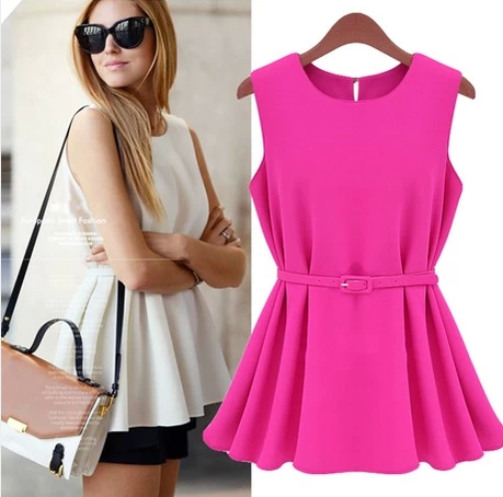 2014 summer plus size loose knitted sleeveless chiffon pleated one-piece dress women's mm small short short-sleeve - ZHAO AND LIN'S STORE store