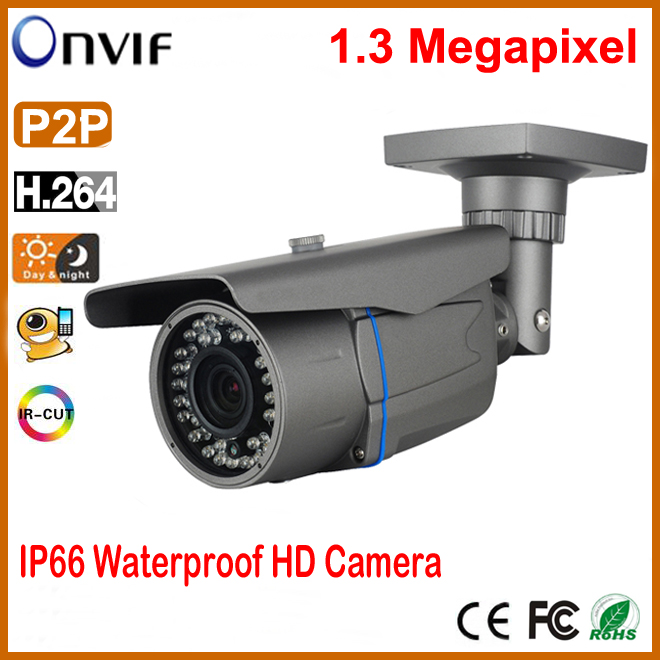 Outdoor Waterproof POE IP camera 1.3MP IR-CUT Filter Day Night Vision Security Camera CCTV Camera IP66 Support Onvif<br><br>Aliexpress