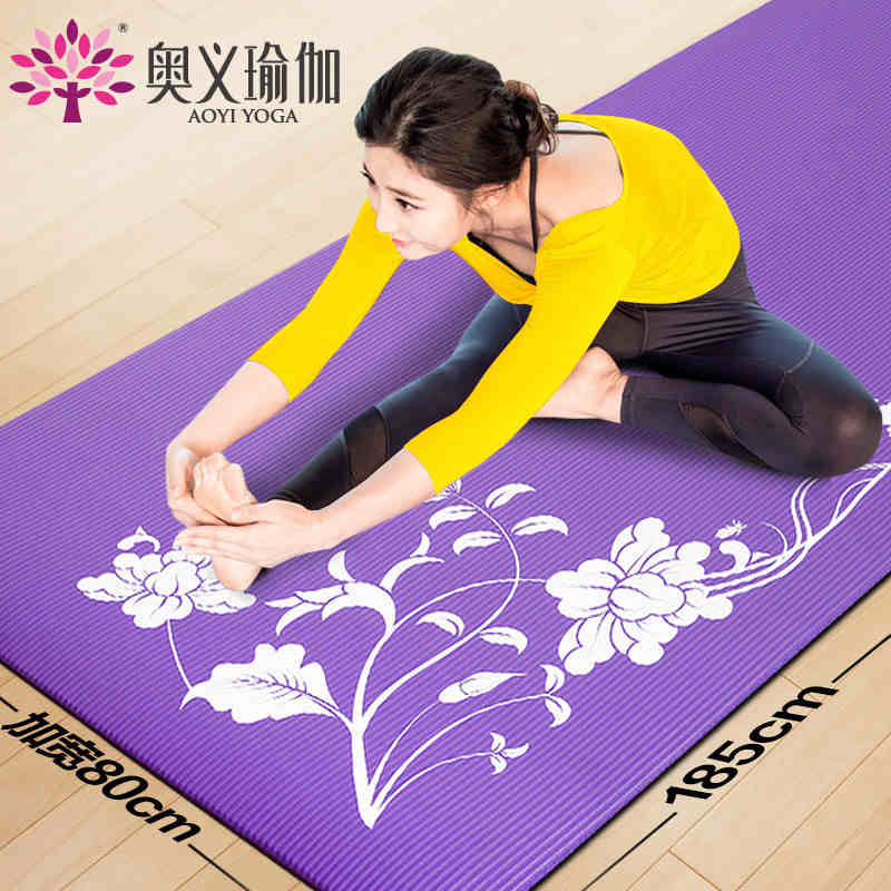 185cm*80cm*10mm NBR Yoga Mats Fitness Tasteless Exercise Mat Cushion Nonslip Print Yoga Mat Thick China Shop Online Stores(China (Mainland))