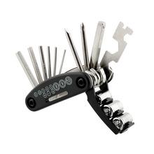 16 en 1 multifunción herramientas de reparación Kits Set para bicicletas Bike llave de acero al carbono de alta calidad Portable Durable envío gratis