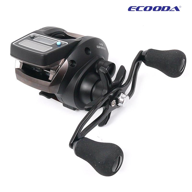 Fishing Line Counter reel 6kg Drag 6.2:1 Electronic Digital Display Fishing Reel 7 Ball Bearing Casting Fishing Reel pesca(China (Mainland))