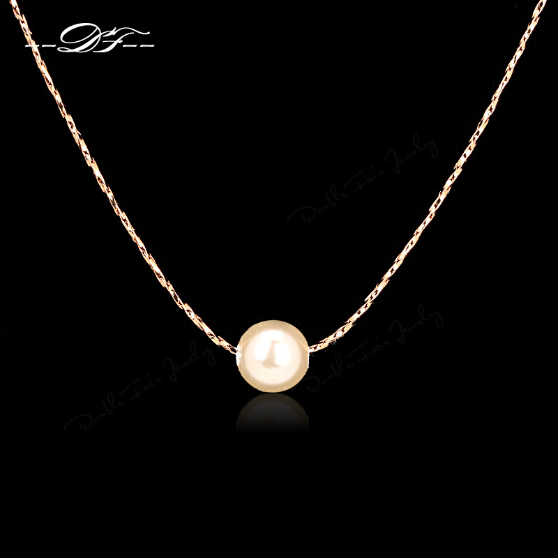 OL Style Simulated Pearl Beads Necklace Pendant Fashion Vintage Jewelry Jewellery For Women Chain Accessiories Wholesale