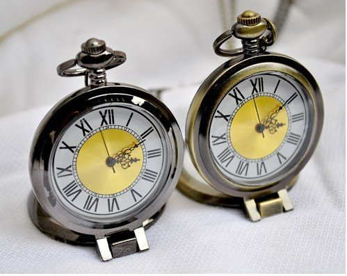 Free shipping Retro large size Circular magnifying glass pocket watch/watch necklace,fashion jewelry,pendant watch necklace