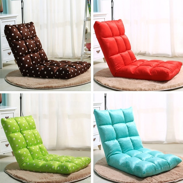 Creative Floor Seating Folding Adjustable Sleeper Chair Sofa Bed Living Room Furniture Lazy Couch Modern Single Sofa Chair(China (Mainland))