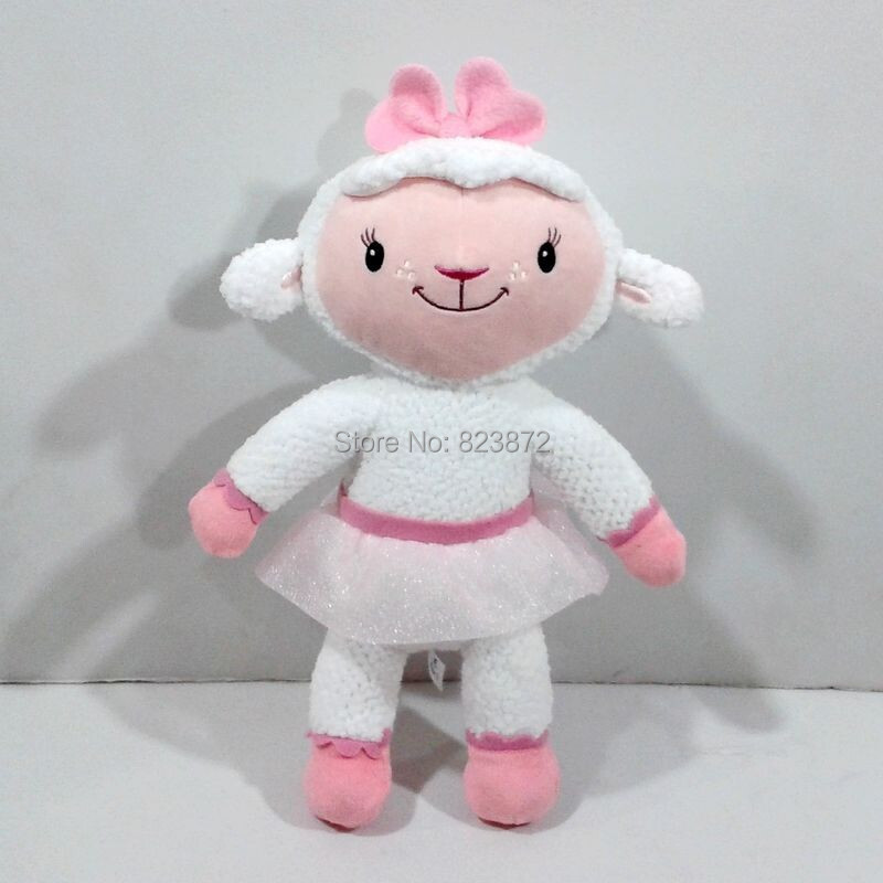 Doc McStuffins Toy 30cm Lamb Lambie Plush Toys Sheep Stuffed Animals Pelucia Juguetes Kids Toys for Children(China (Mainland))