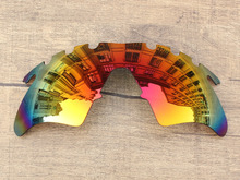 Polycarbonate-Fire Red Mirror Replacement Lenses For M Frame Heater Vented Sunglasses Frame 100% UVA & UVB Protection
