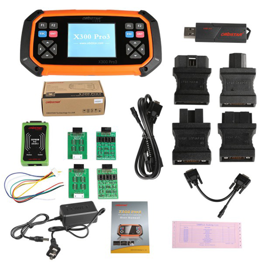 OBDSTAR X300 PRO3 Key Master with Immobiliser+Odometer Adjustment +EEPROM/PIC+OBDII English Version with Standard Configuration(China (Mainland))