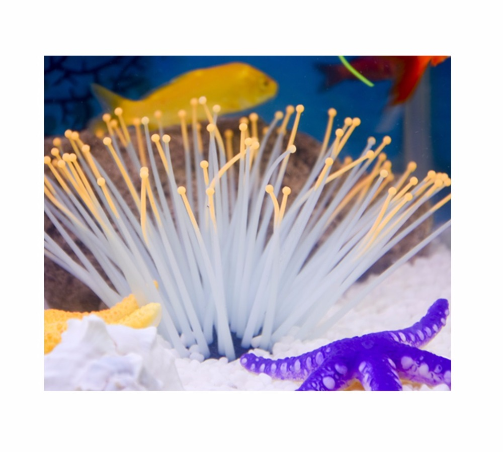 6 colors Luminous Sea Anemone Aquarium Landscaping Decor Set Supplies Marine Jellyfish Animal Decoration(China (Mainland))