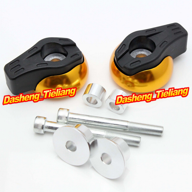For Yamaha FZ6R 2009 2010 2011 2012 Frame Sliders Crash Pads Protector, Motorcycle Spare Parts Accessories, Gold Color
