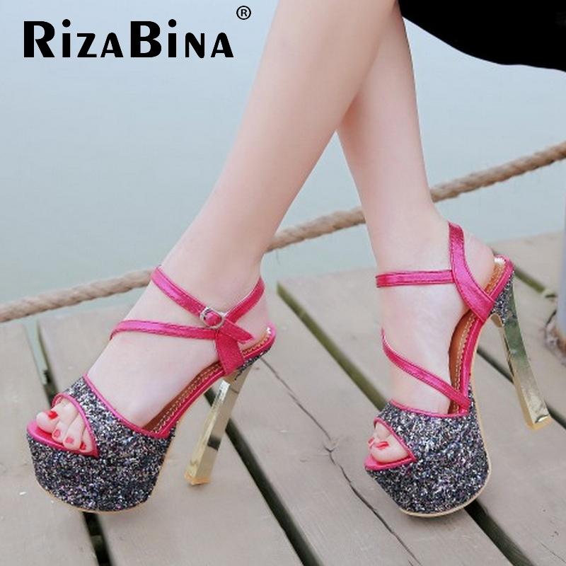 women stiletto ankle strap platform high heel sandals brand sexy fashion ladies heeled footwear heels shoes size 33-40 P17647<br>