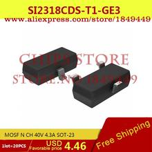 Smart Electronics Integrated Circuit SI2318CDS-T1-GE3 MOSF N CH 40V 4.3A SOT-23 2318 SI2318 2 - Chips Store store