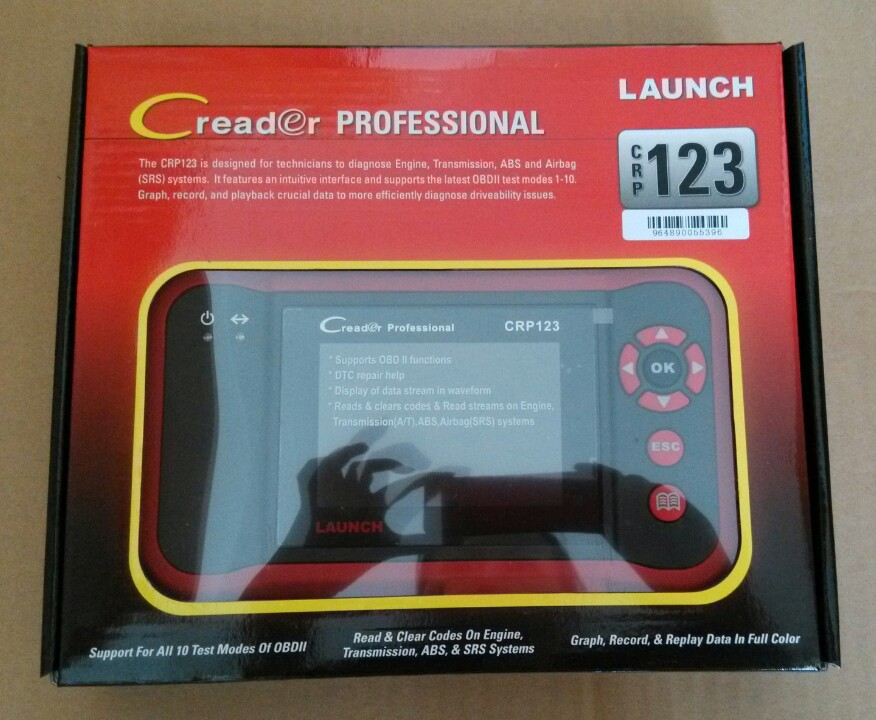 Free Shipping LAUNCH Creader Professional 123 Launch CRP123 Original LAUNCH CRP 123 Code Reader Update Online 3 Years Warranty(China (Mainland))