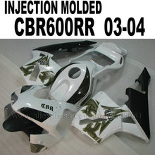 Buy ABS Injection fairings kit for Honda 2003 CBR 600 RR 2004 CBR600RR 03 04 cbr600 white aftermarket body repair fairing kits for $343.17 in AliExpress store