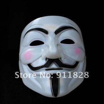 V  For Vendetta  Vtheme Film White Lead Mask Chrismas mask party mask halloween mask 20pcs/lot free shipping