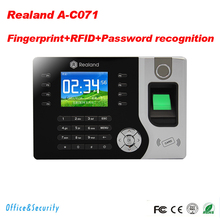 Realand A-C071 TCP/IP Biometric Fingerprint Time Clock Recorder Attendance Employee Electronic English Punch Reader Machine