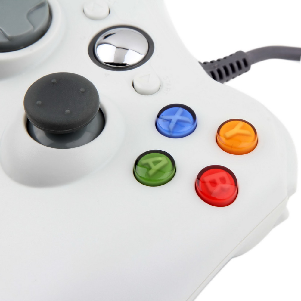 image for 1pcs USB Wired Joypad Gamepad  White Controller For Microsoft For Xbox