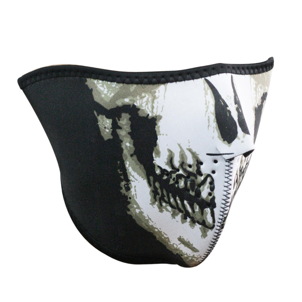 1 Pcs Adjustable Velcro Closure Half Face Skull Mask For Hunting Snowboarding Paintbal Outdooor Sports(China (Mainland))