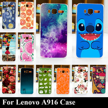 Case For Lenovo A916 Colorful Printing Drawing Transparent Plastic Mobile Phone Cover For Hard Phone Cases