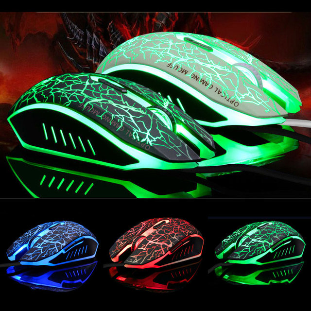 High Quality USB 6D Wired Optical Computer Gaming Mouse With Breathing Lamp For Gamer