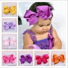 Cute grandes arcos accesorios para el cabello infantil venda del bebé vendas elásticos del pelo arcos del pelo del bebé de las vendas 1 unid HB145(China (Mainland))