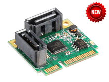 2 Ports SATA 6G mini PCI Express Controller Card mini PCI-e to SATA III 3.0 converter half-size to full-size bracket SATA3.0(China (Mainland))