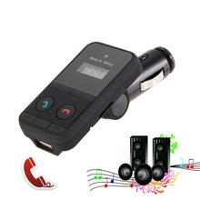 Free shipping Bluetooth MP3 Player Wireless Car FM Transmitter with USB Jack SD Slot Car Kit with Remote(China (Mainland))