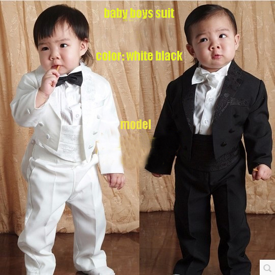 Baby Boy kid 1-4year white black Bow Tie Gentleman Modelling retail Romper Infant long sleeve Clothing Onesie Formal Dress T1324<br><br>Aliexpress