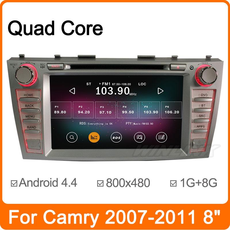 product 4 Core A9 1.6GHz Pure Android 4.4.2 Car DVD For Toyota Camry 2007-2011 with GPS Navigation Stereo Radio Player Support TPMS DVR