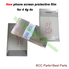 100pcs/Lot Original For black/white Apple iPhone 4 4G 4S 4GS NEW PHONE Anti-Scratch LCD Screen Guard Protector Protective Film