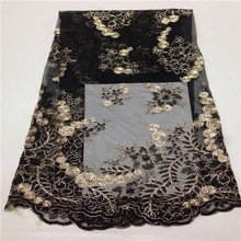 3ANewest arrival Beautiful water solubility fabric Noble Color of skin sequins African lace fabric for party dress(China (Mainland))