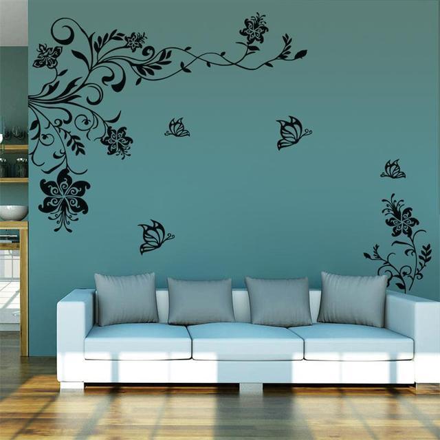 8402 классические цветы винограда тв фон стены домашнего декора винил наклейки украшения дома стены стикер
