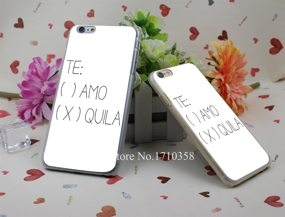 tequila Hard Plastic Clear Back Transparent Style Case Cover for iPhone 7 7 Plus 4 4s 5 5s 5c 6 6s 6 plus s