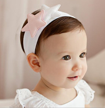 Soft Cotton Double-pointed Star Princess Hair Accessories Infants Wide Stretch Cotton Headdress Personality Headband