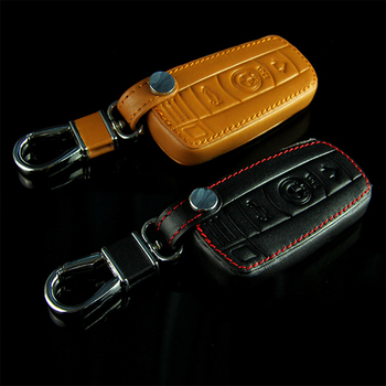 New Leather Car Styling Key Cover With Buckle For BMW 1 3 6 series X1 X5 X6 Z4 M3 M6 X5M X6M Black Car-styling Black