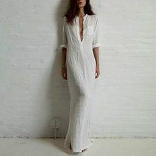 Good quality summer Women Fashion Dresses Linen Cotton Casual Long Split Maxi Wrap shirt Dress Ladies Vestidos Wine red white(China (Mainland))
