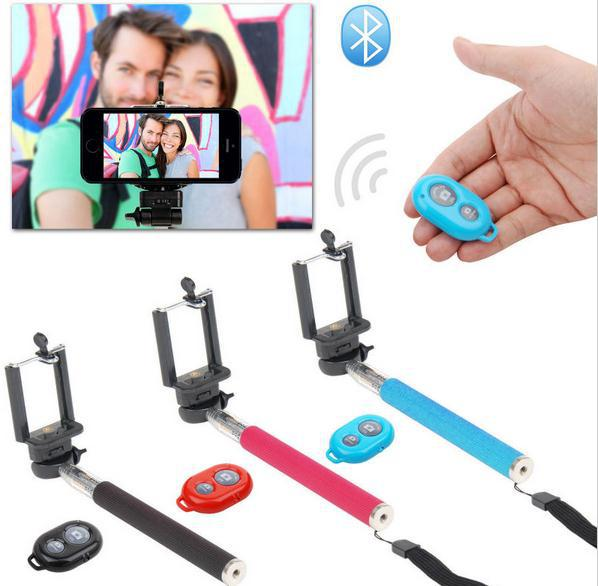 3 in 1 Selfie Rotary Extendable Handheld Camera Tripod Mobile Phone Monopod+ Wireless Bluetooth Remote Control monopod stick(China (Mainland))