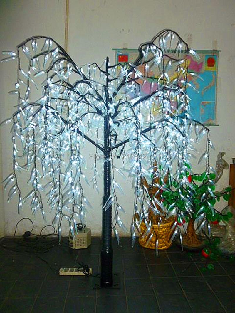 led saule pleureur arbre avec blanc couleur utilisation ext rieure 1 008 pcs led ampoules 1 8 m. Black Bedroom Furniture Sets. Home Design Ideas