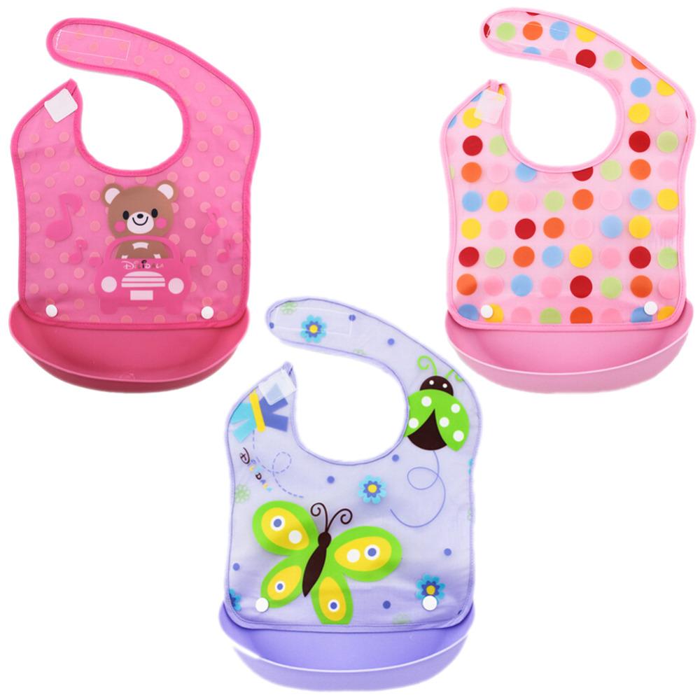 3pcs Baby Bibs Waterproof Boy Girl Bandana Bibs Bebe Cotton Toddler Bids Baby Food Bib Newborn Stuff Accessories for 3-36Months(China (Mainland))