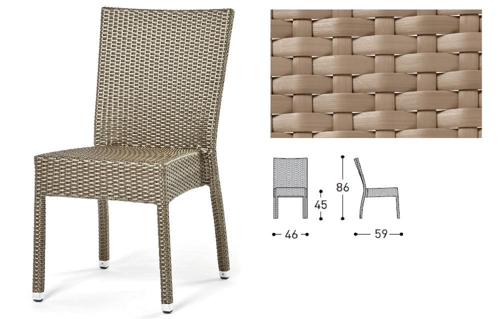 freeshipping Customize PE rattan cany chair(China (Mainland))