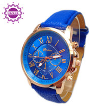 2015 Fashion Watch women Quartz Soft Leather Young Sports Watches Gold Plated Lady Casual Dress Wristwatches relogios feminino