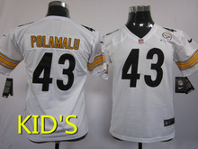 High quality Pittsburgh steelers 43 # 7 # 87 #, children's clothes(China (Mainland))