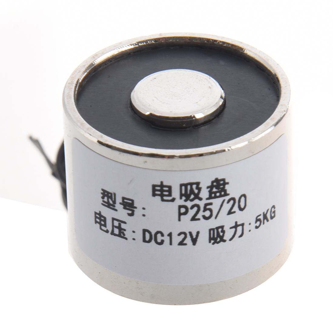 Electromagnet 11 LB DC 12V Holding Electromagnet Lift Magnet Electric Motor