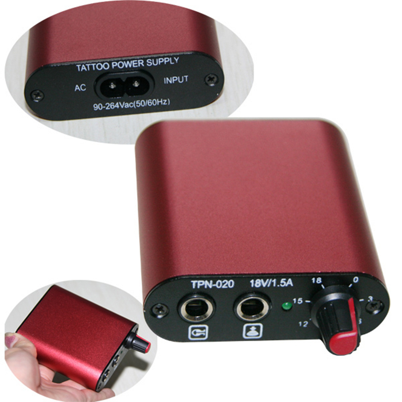 Mini Tattoo Power Supply Clip Cord and Foot Pedal Kit FREE SHIPPING(China (Mainland))