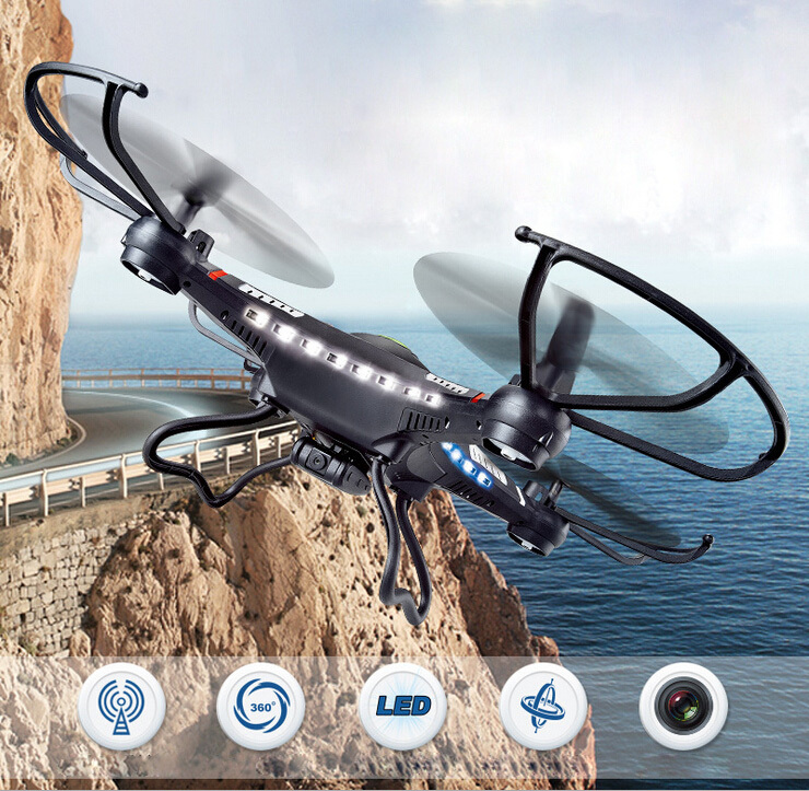 JJRC H8C 2.4G 4CH 6 Axis Remote Control RC Quadcopter Helicopter With 2MP Camera professional drones with camera brinquedos(China (Mainland))