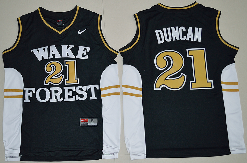 Top A Best quality 2016 new arrivals,high quality,Wake Forest Demon Deacons,Tim Duncan(China (Mainland))